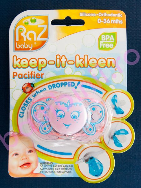 Suzeta copii raz baby keep-it-kleen roz 0-3ani