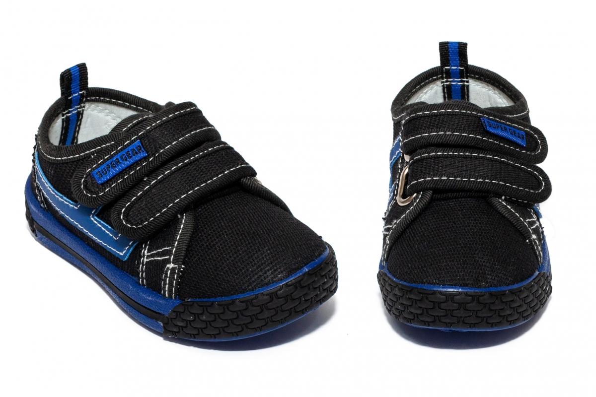 Tenisi baieti textil 9859 negru blu 20-31