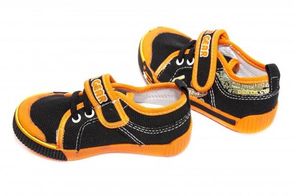 Tenisi copii 9945 negru portocaliu 24-35