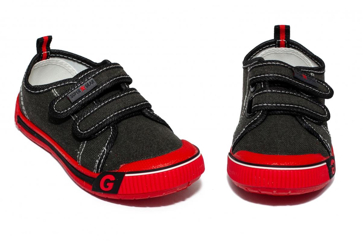 Tenisi copii textil 9458 negru rosu 20-31