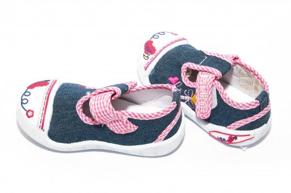 Tenisi fete 1738 jeans roz 20-25