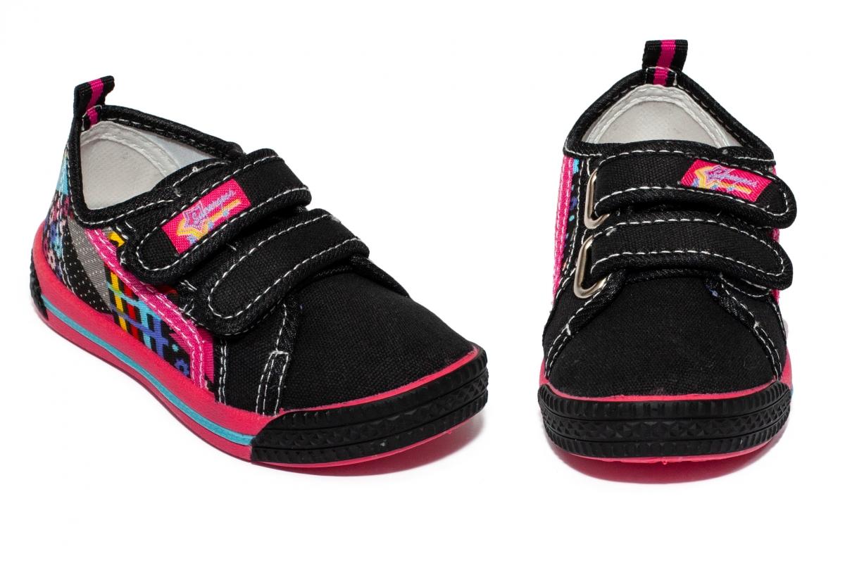 Tenisi fete textil 9850 negru roz 20-31
