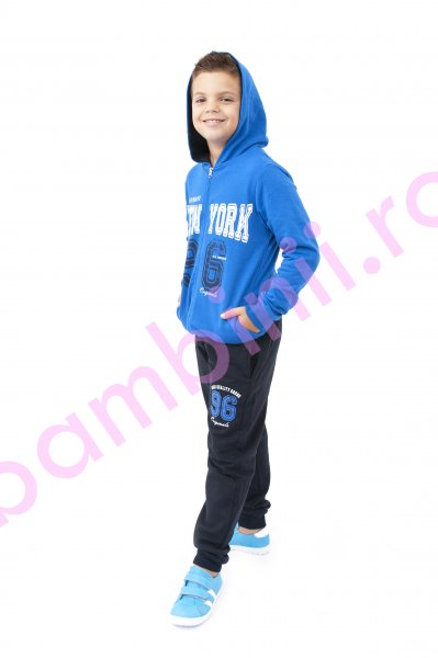 Treningri baieti bumbac 7876 albastru blu 116-152cm