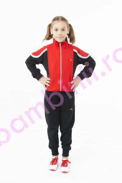 Treninguri copii 2255 rosu negru 152-176cm