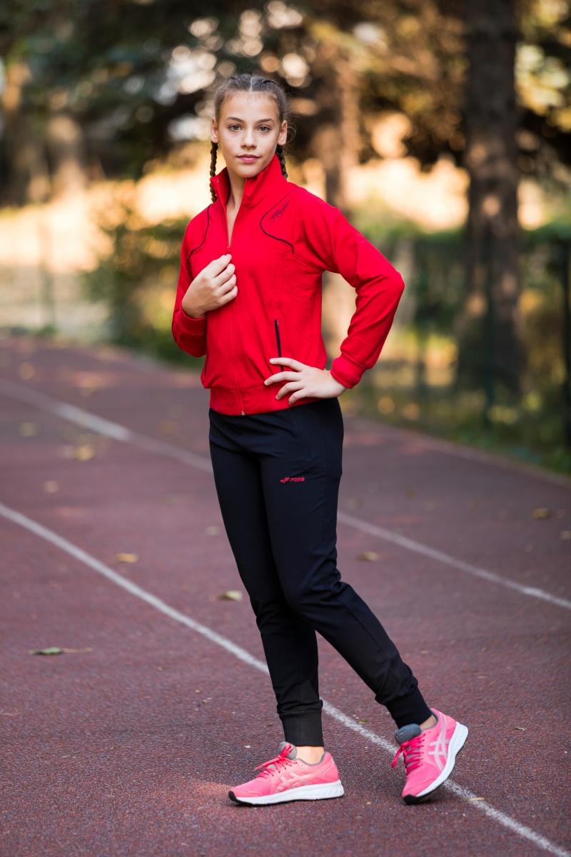 Treninguri fete 1741 rosu negru 146-176cm