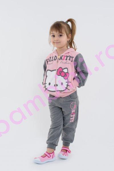 Treninguri fete Hello kitty 3958 gri roz