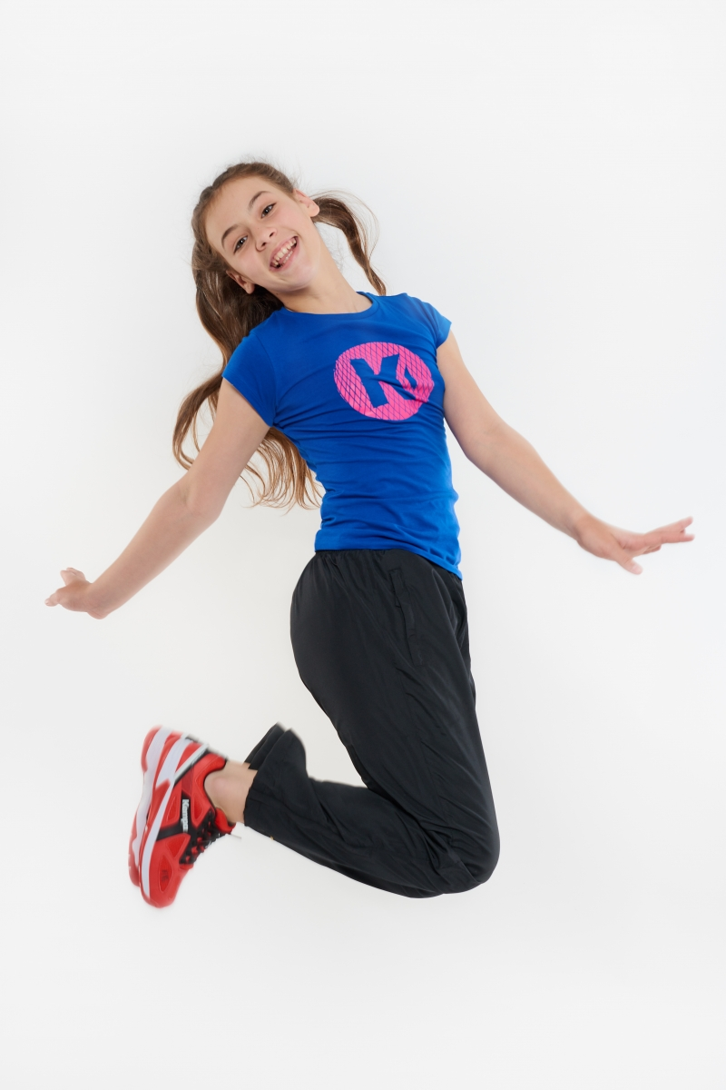 Tricou Kempa K-logo albastru 164-2XL