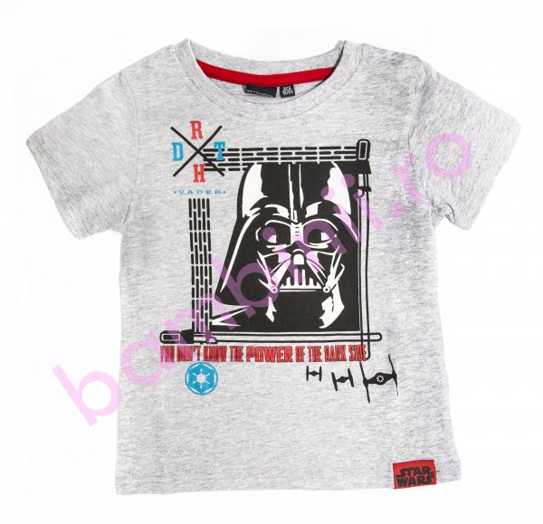 Tricou baieti Star Wars 9338 gri 98-134