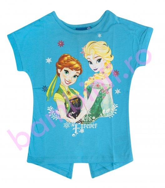 Tricou fete Sisters Frozen 1327 turcoaz 98-134