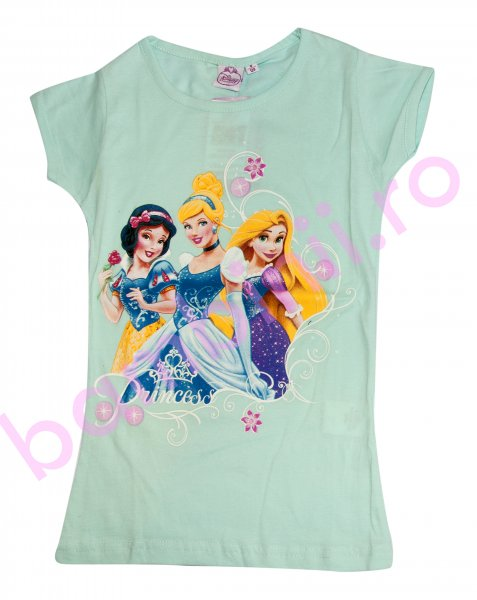Tricou fete disney 8069 blue Princess