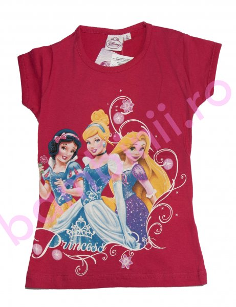 Tricouri fete disney 8069 Princess fuxia