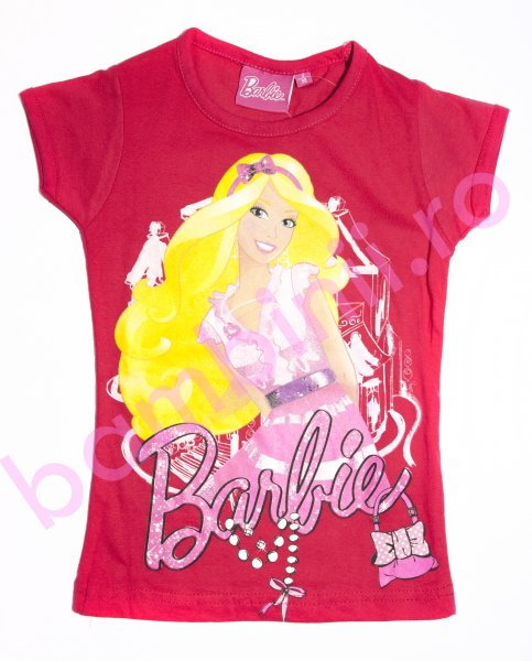 Tricou fete disney 8072 Barbie fuxia