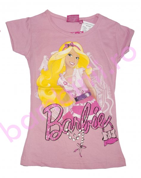 Tricou fete disney 8072 Barbie roz