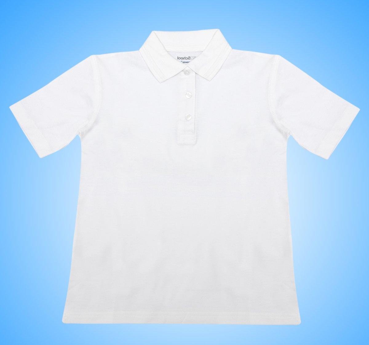 Tricou polo copii 327 alb 4-14ani