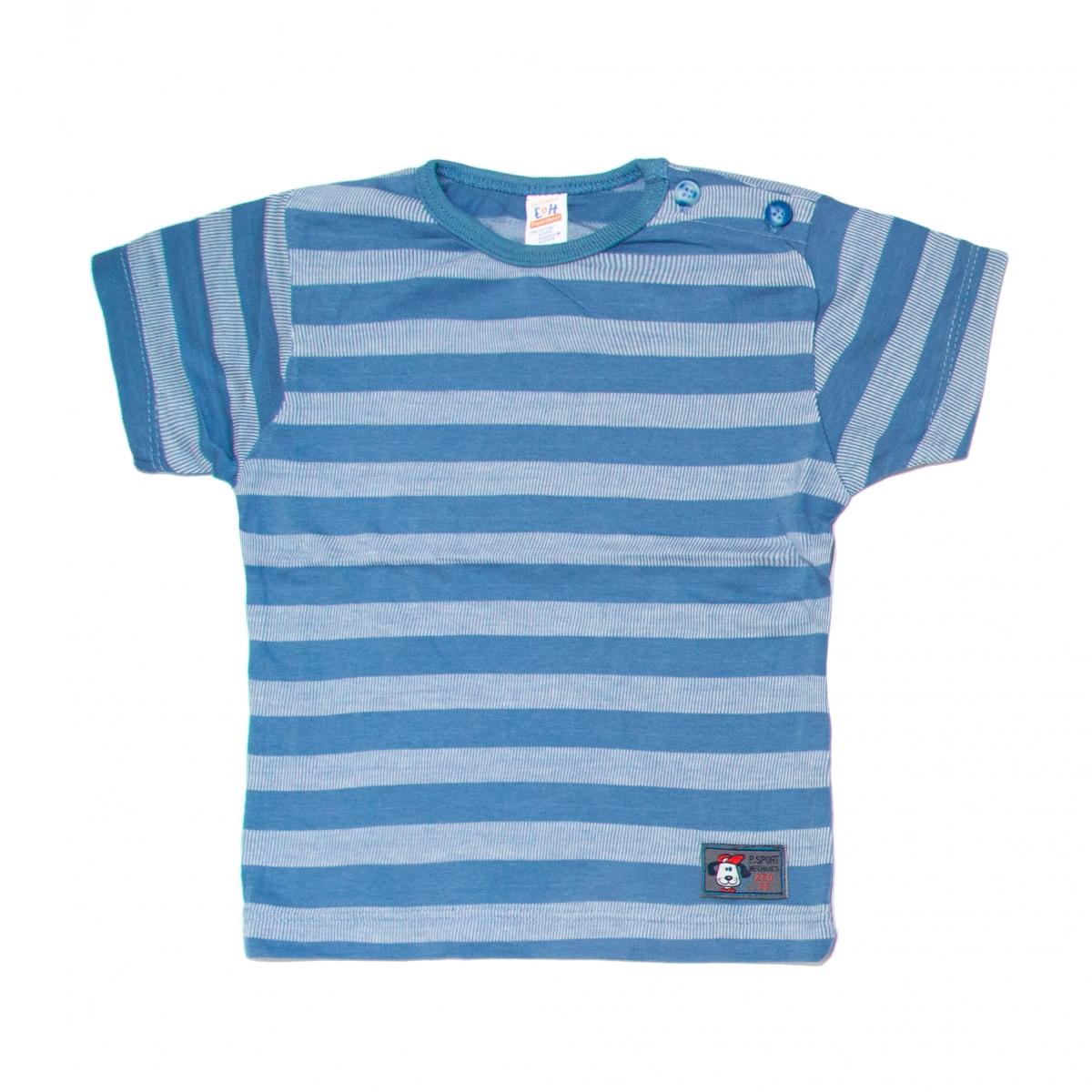 Tricouri baieti 3237 albastru gri 80-104cm