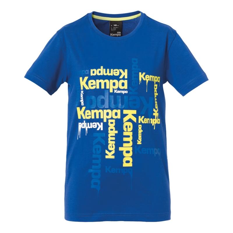 Tricouri copii Kempa Paint albastru 116-164cm
