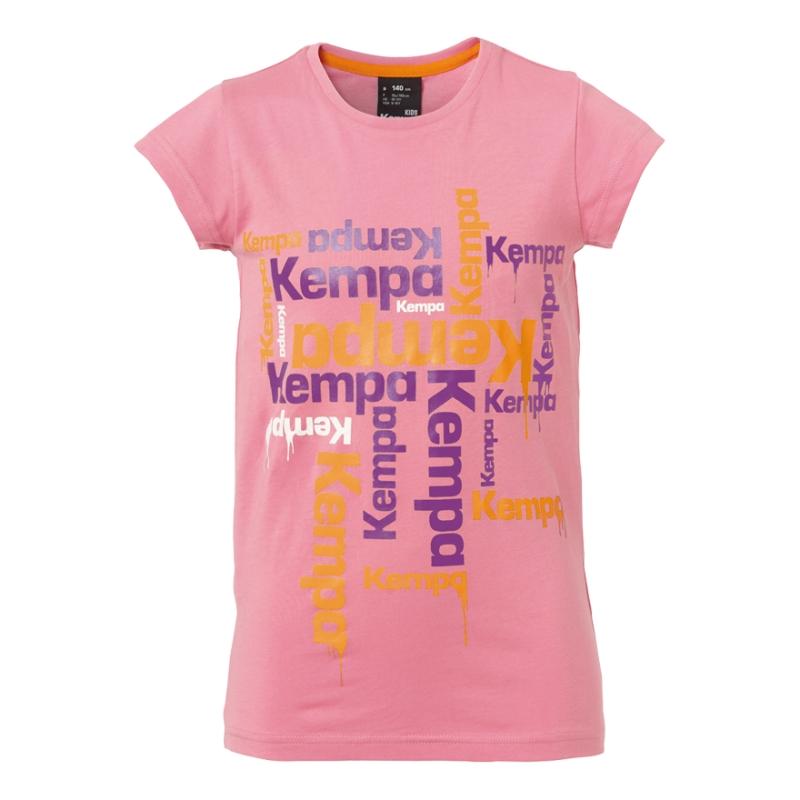 Tricouri fete Kempa Paint roz 116-164cm