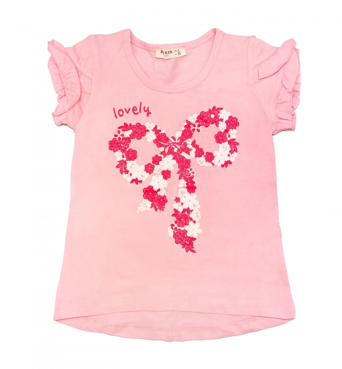 Tricouri fete breeze 1705 roz 104-140cm