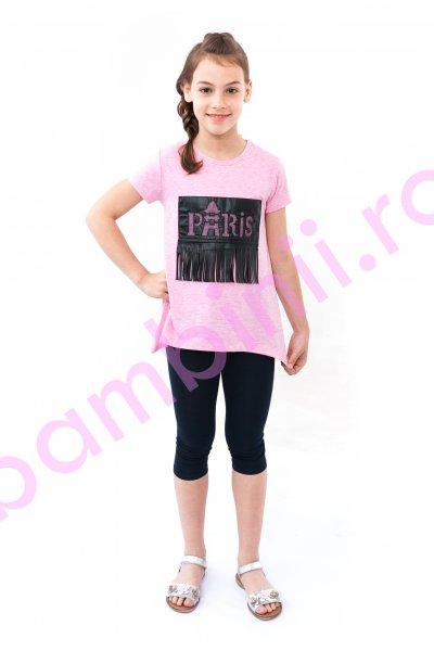 Tricouri fete breeze 8296 roz 128-152cm