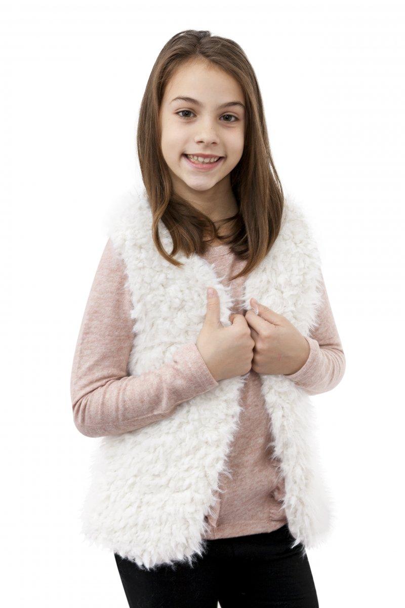 Veste fete 2525 alb 116-164cm
