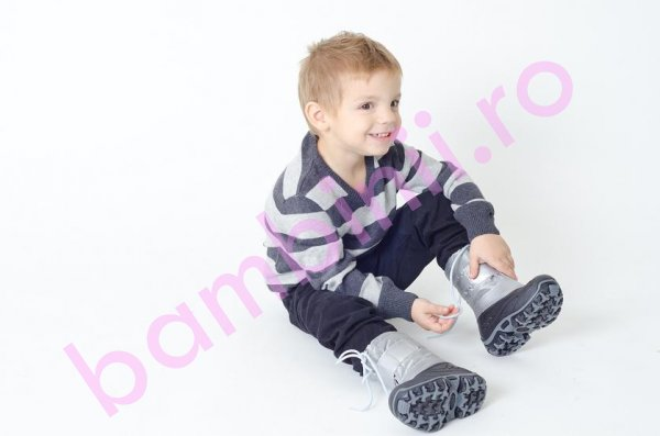Apreskiuri copii Fun Pj shoes gri
