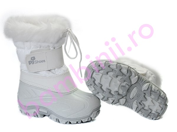 Apreskiuri copii Pj Shoes FUN alb 21-36