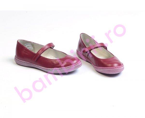 Pantofi copii piele Candy 2 bordo