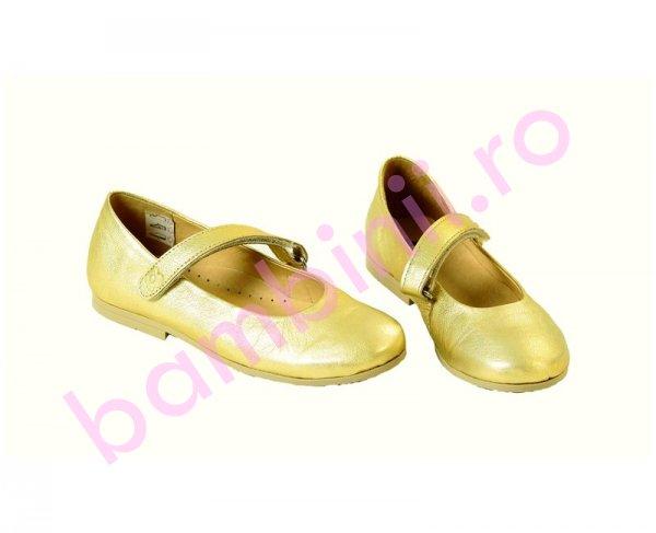 Pantofi copii Pj Shoes Olimpia auriu