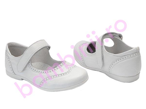Pantofi balerini fetite hokide 420 alb