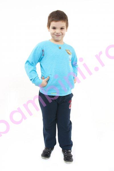 Bluza copii 369 turcoaz 5-13 ani