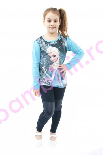Bluza fete 3901 Elsa turcoaz 104-134cm