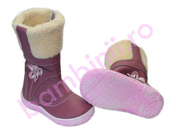 Cizme copii blana hokide 321 roz