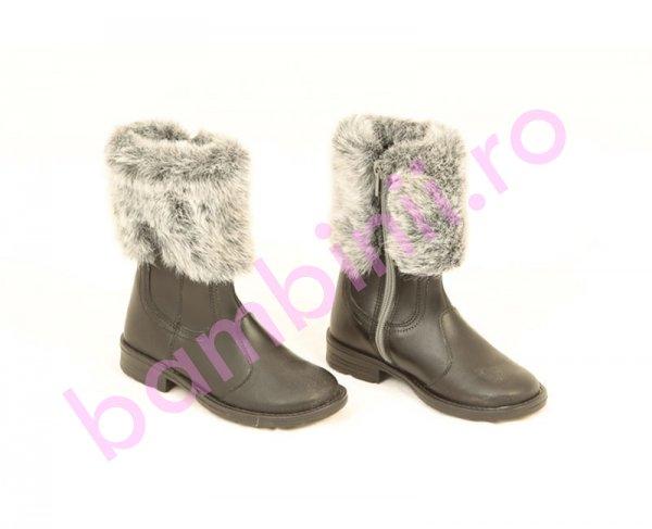 Cizme copii PJ Shoes Apolo negru