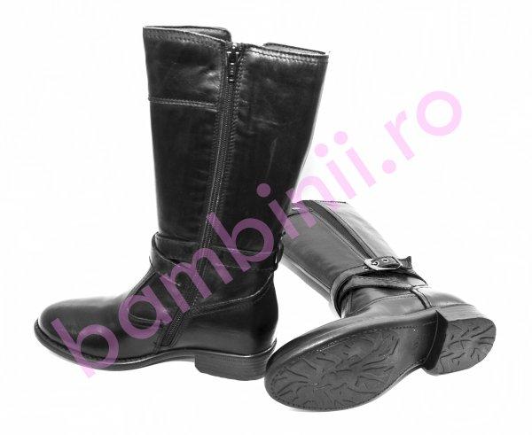 Cizme fete piele 4511 negru