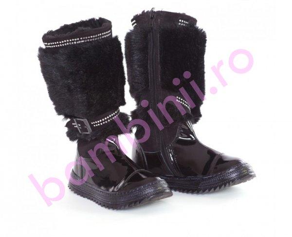 Cizme fete pj shoes Maia negru