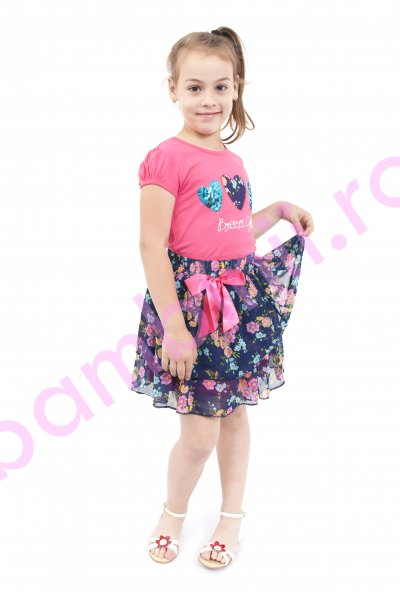 Compleuri fete 3455 roz 116-140cm