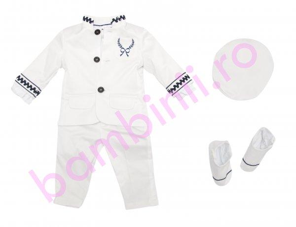 Costum botez baieti Marinar 5163 alb