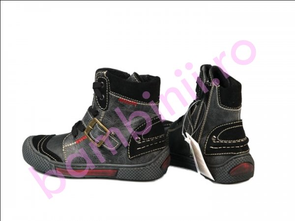Ghete blana copii Pj Shoes Roma negru