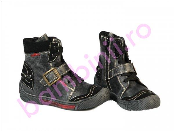 Ghete blana copii Pj Shoes Roma negru 24-36