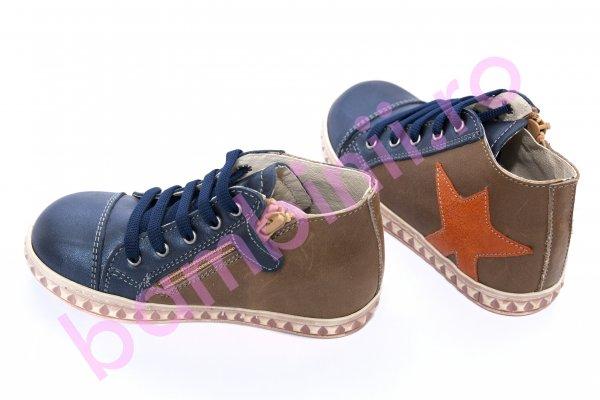 Ghete copii pj shoes Air albastru cafe 20-26