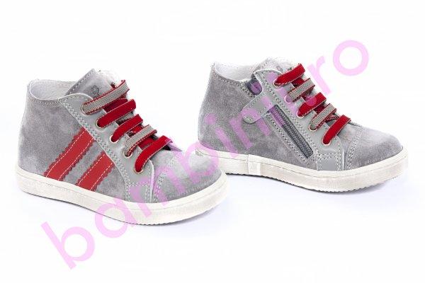 Ghete copii pj shoes Rocky gri-rosu 20-26