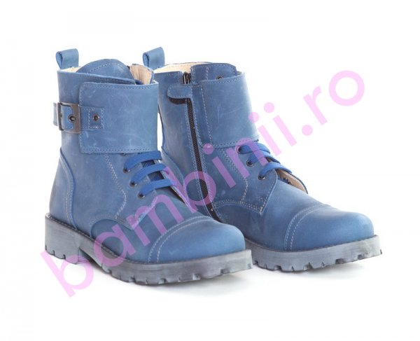 Ghete copii pj shoes Army albastru