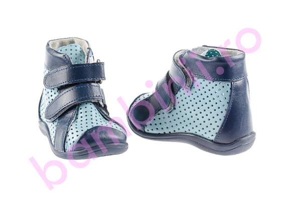 Ghetute copii perforate 586 blu-blue