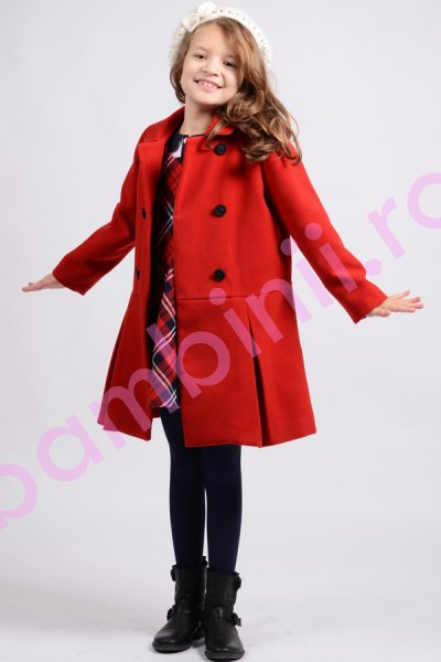 Palton fete 802 rosu