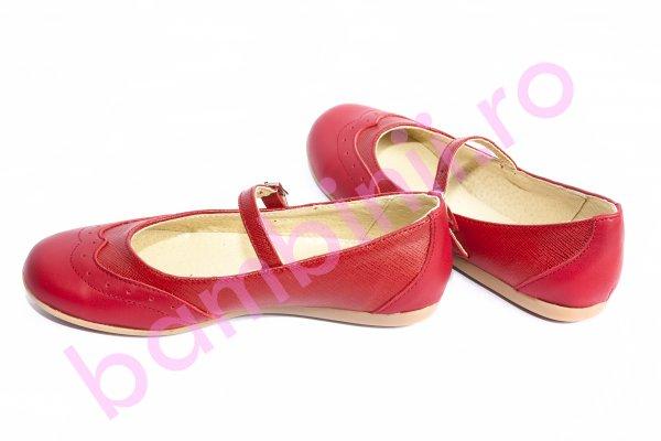Pantofi balerini copii 1327 rosu