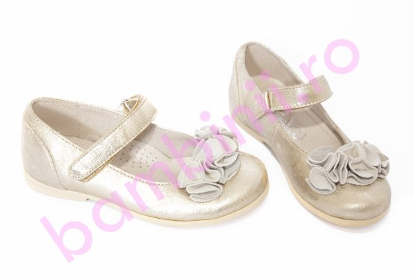 Pantofi balerini fete hokide 272 auriu
