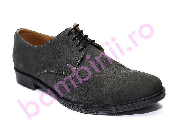 Pantofi piele intoarsa barbati 9 gri 36-46