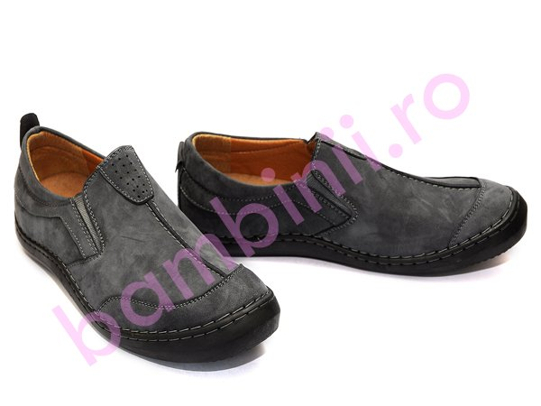 Pantofi piele barbati 122 gri