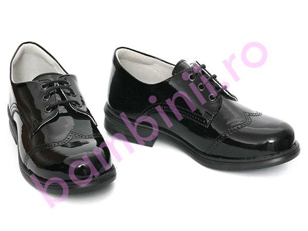 Pantofi copii hokide 207 negru lac