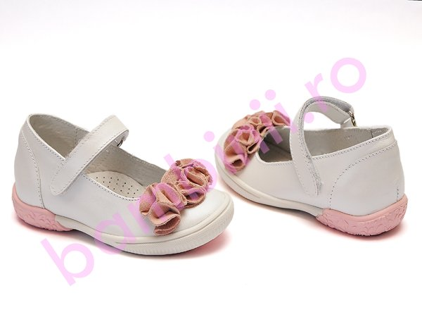 Pantofi copii hokide 272 alb roz